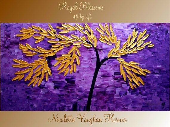 ORIGINAL X Large  gallery wrap canvas  modern mixed media  Impasto   fine  art   painting   by Nicolette Vaughan Horner