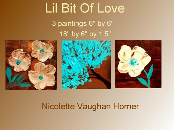 ORIGINAL   gallery fine art painting on canvas-Contemporary impasto    abstract  Floral   painting by Nicolette Vaughan Horner