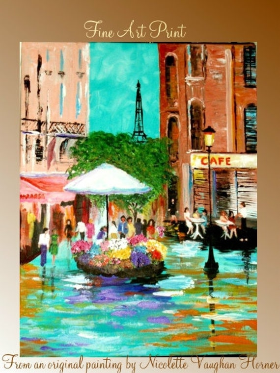 Limited edition print  from an original oil painting  by Nicolette Vaughan Horner