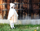Girls Cape, Special Occasion/ Winter - SNOWY DOTS, sizes 7&8