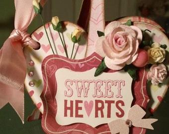 OOAK Sweet Heart Mini Album - Valentines