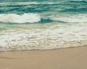 Turquoise Ocean Photography | Beach Photography | Teal Wall Art | Photograph Print of Ocean Waves | Beach Decor | Beach Wall Art