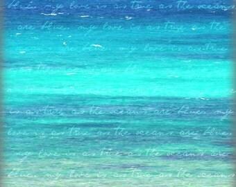 Printable Blue Ocean Wall Art | Instant Download | Turquoise Ocean Decor Print | Digital Download Photography | Printable Ocean Photography