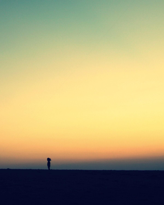 Minimalist art photography orange sunset over by beachbumchix for Art minimal photographie