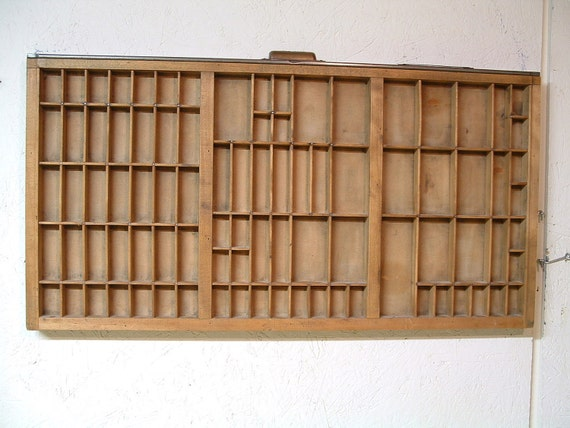 Vintage Hamilton Printer Drawer Tray Display Organizer Collection