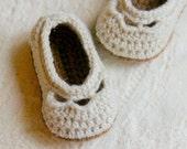 Crochet Pattern  - Baby shoe Yoke Ballet Slipper PDF sizes  Pattern number 109 - Instant Download L