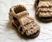 CROCHET PATTERN # 106 - Moccasin Sandals - Baby booties Crochet Pattern - Instant Downloads - Sandal Crochet Pattern