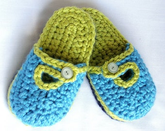 CROCHET PATTERN #209  Big Kids Super Quick and Comfy House slipper Childrens sizes  - Instant Download kc550