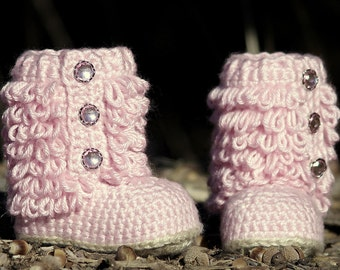 Crochet Pattern Little Diva Boot TODDLER sizes 4 - 9  - Pattern number 201 Instant Download kc550