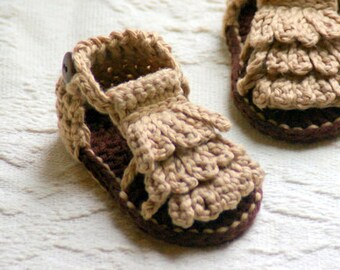 CROCHET PATTERN # 106 - Moccasin Sandals - Baby booties Crochet Pattern - Instant Downloads - Sandal Crochet Pattern L