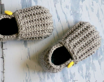 "CROCHET PATTERN #115 - Crochet Pattern for ""Jake"" Loafers - Toddler Sizes 4-9 - Toddler shoe pattern - Instant Download pdf L"
