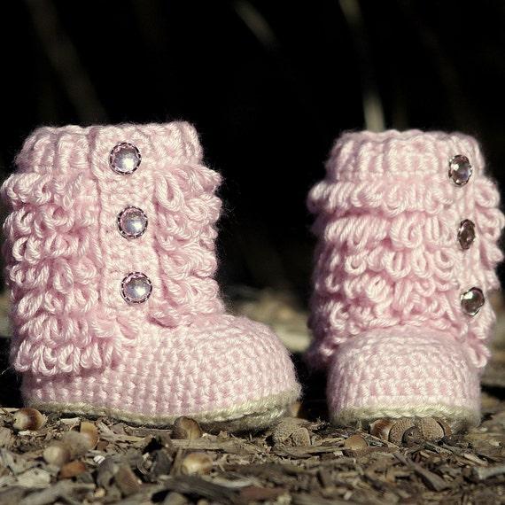 Crochet Pattern Little Diva Boot TODDLER sizes 4 - 9  - Pattern number 201 Instant Download kc550