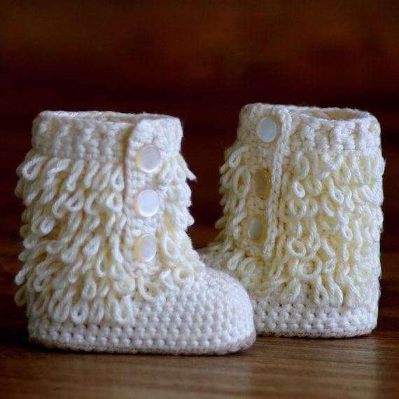 baby ugg boot crochet pattern free