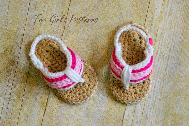 Crochet pattern for sporty flip flop baby sandals crochet zoom bankloansurffo Gallery
