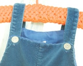 Blue britches: darling vintage corduroy overalls for your little guy (sized 18 months)