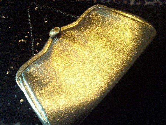 Gold Shiny Vintage Evening Bag/Purse