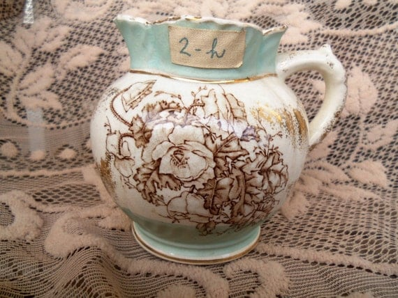 Poppy Pottery Vintage Dalehall Co. Small Collectible Pitcher 1940's 1950's Home Decor Housewares