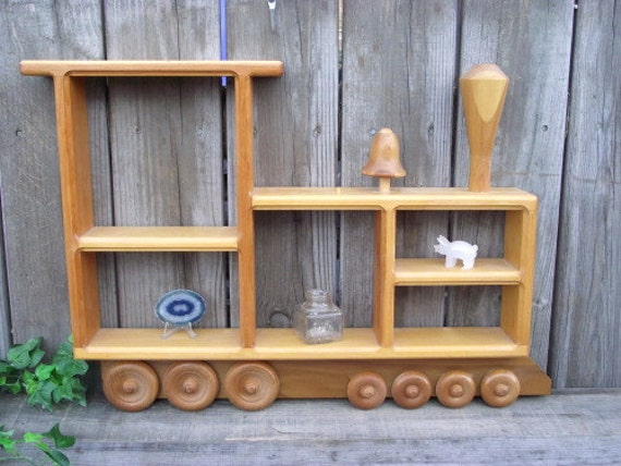 Wood Train Shelf Thomas The Tank Engine Shadow Box