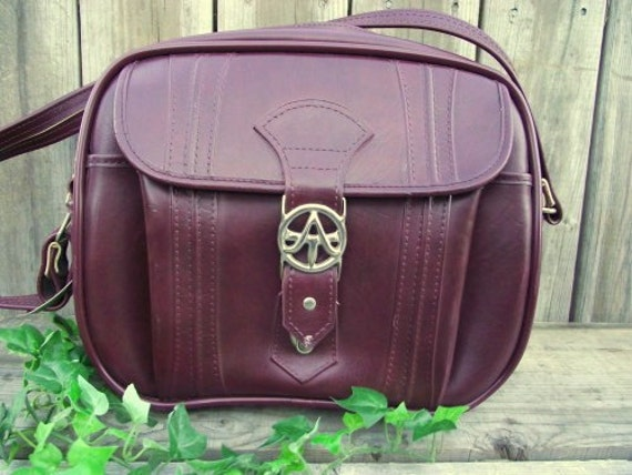 Classy American Tourister Carry On Luggage Bag Tote Burgandy Wine Bordeaux