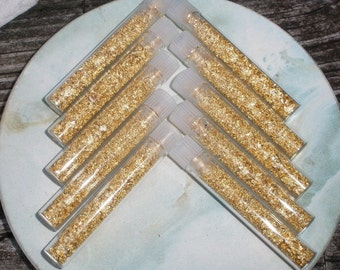 10 Vials of Loose Gold Flakes