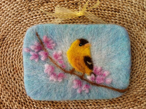 Felted Songbird Wall Hanging