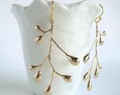 Tree Earrings in Gold - Branch earrings Large Vermeil Modern Whimsical Woodland Dangle