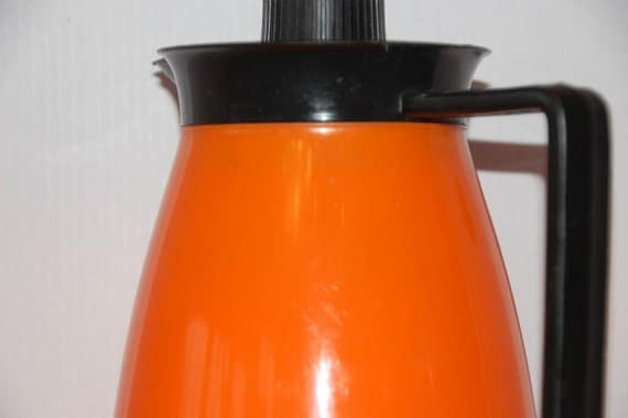 Orange thermal glass lined carafe
