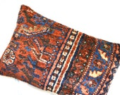 Persian Rug Pillow - Kilim Pillows - Oriental Carpet Cushion - Vintage Handmade Area Rug