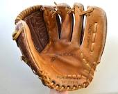 Leather Baseball Glove - Vintage Baseball Equipment - Sports Memorabilia