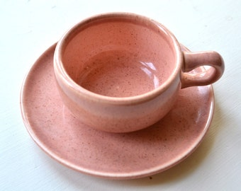 Russel Wright Pottery - Russell Wright Dinnerware - Cup and Saucer - Demitasse Cup - Mid Century Art