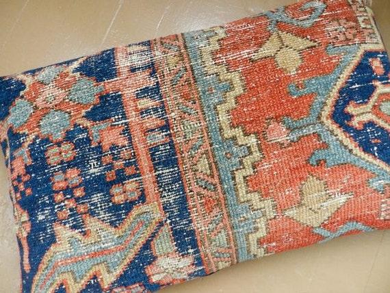 Persian Rug Pillow - Kilim Pillow - Oriental Carpet - Large Cushion