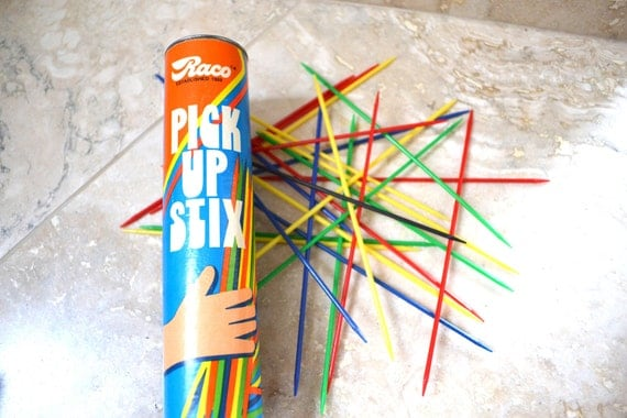 Pick Up Stix Game - Vintage Game - Retro Childrens Game