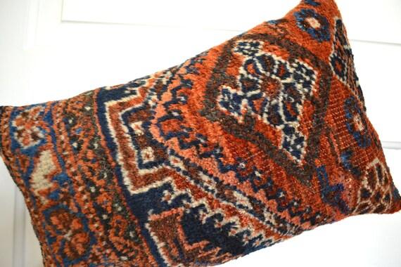 Persian Rug Pillow Kilim Pillows Oriental Carpet Cushion