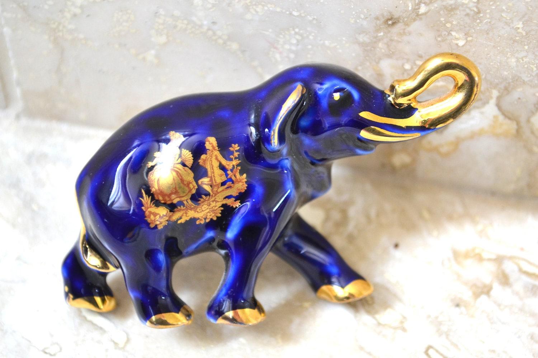 Limoges Elephant Figurine Porcelain Elephant Limoge France