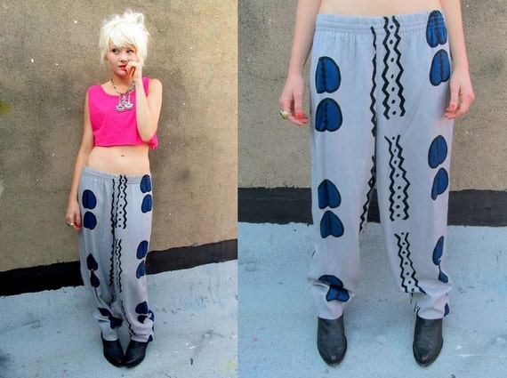80's Abstract Baggy Geometric Crazy Harem Hammer Pants