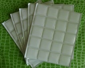 Square 100 epoxy resin stickers 1x1 inch clear domed self adhesive