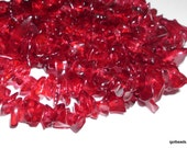 Quartz crystal chips Cherry red 36 inch