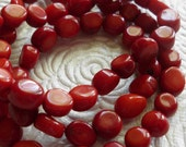 Red bamboo coral 6-10mm beads 16 inch strand