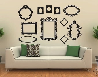 Wall Decal Frames Large Collection - Wall Vinyl - Wall Stickers