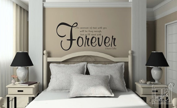 Wall Decal Quote No Measure of Time - Wall Sticker - Wall Vinyl - Edward  Cullen