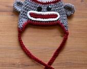 Custom Made Sock Monkey Hat - Any size