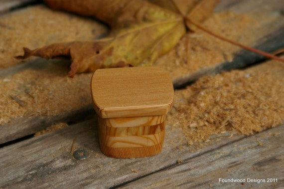 Small Reclaimed Wood Ring Box - Mixed Wood - Rustic - Wooden Jewelry Box - Trinket Box