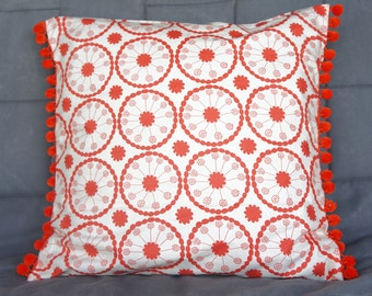 Catalina Pillow Cover in Tangerine-Throw Pillow, decorative