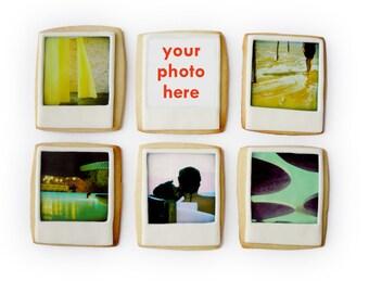 edible photo gift box (6 polaroid photo cookies)