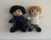 BBC's Sherlock - Holmes and Watson - inspired by Benedict Cumberbatch and Martin Freeman - Plushies
