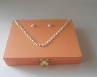 Jewelry Box Peaches n Cream Bridal wedding keepsake box