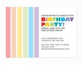 Birthday Party Invitation Printable PDF
