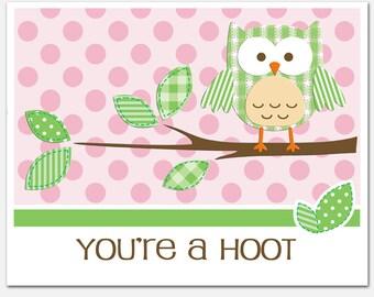 Owl Print Nursery Art CHICO 8x10 You're A Hoot