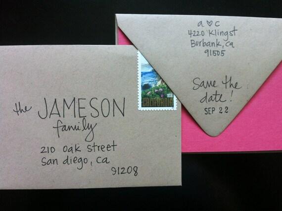 items similar to creative hand addressed envelopes