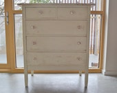 Pale Yellow Vintage Dresser